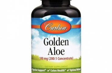Carlson – Golden Aloe 100 mg (200:1 Concentrate) Digestive Support & Colon Hea