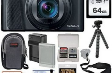 [아마존베스트]Canon PowerShot SX740 HS Wi-Fi 4K Digital Camera (Black) with 64GB Card + Battery Ch
